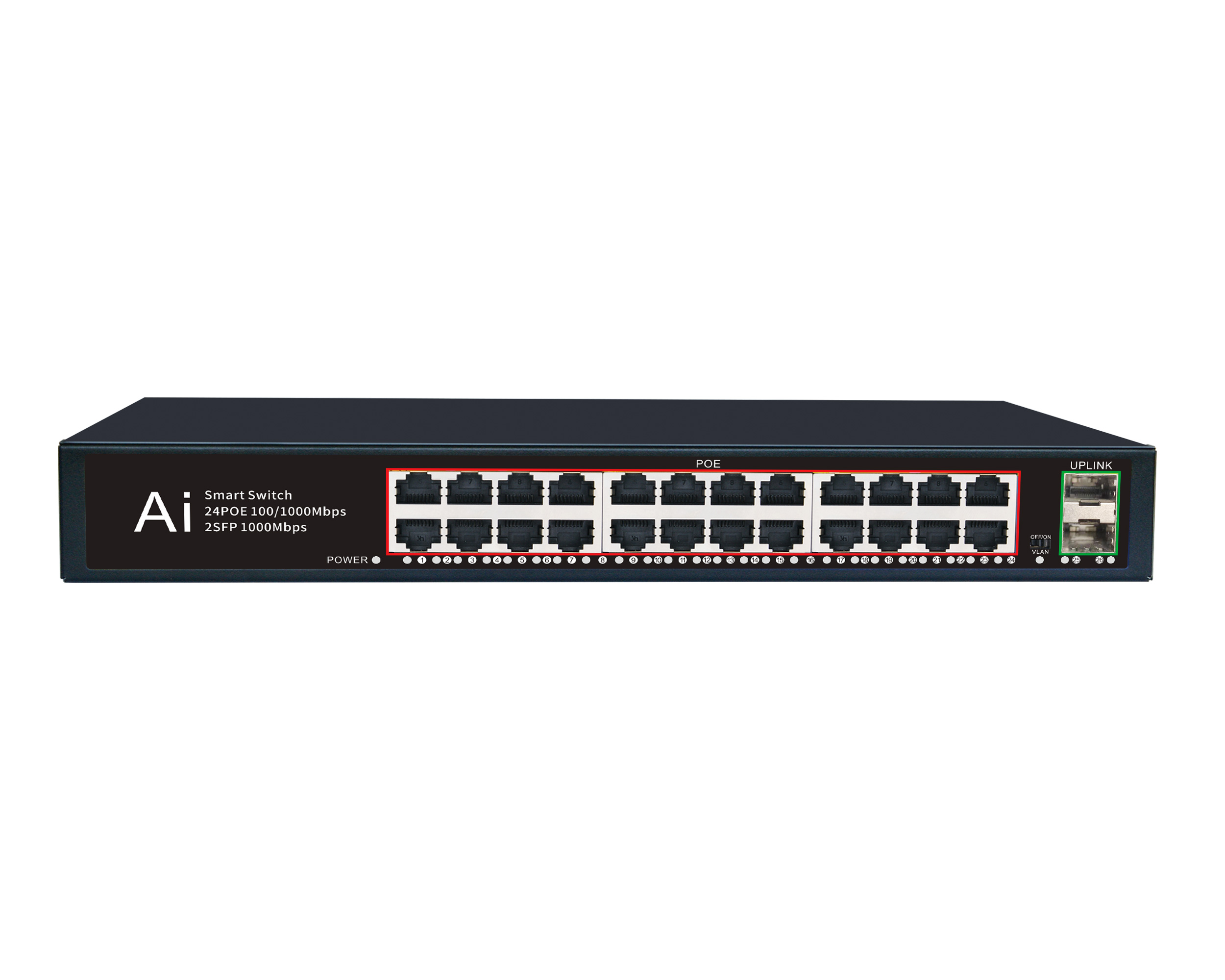 Can a POE switch transmit a distance of 250 meters?