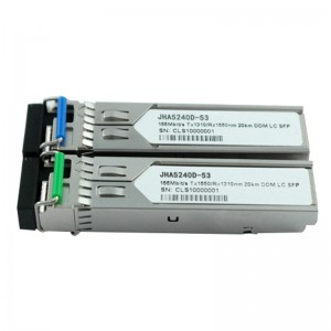 155M Single Mode 40Km DDM | Single Fiber SFP Transceiver JHA5240D-53