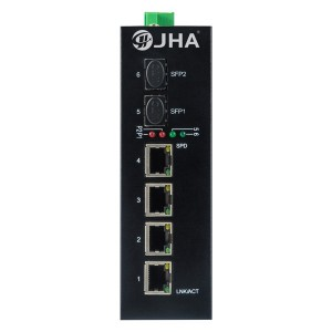 4 10/100/1000TX PoE/PoE+ and 2 1000X SFP Slot | Unmanaged Industrial PoE Switch JHA-IGS24P