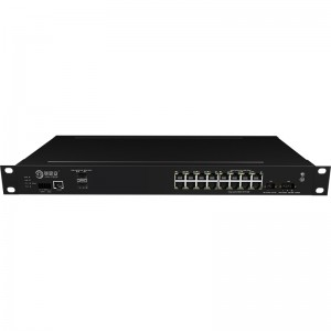China Supplier 8 Ports Managed Poe Switch - 2*10G Fiber Port+16*10/100/1000Base-T, Managed Industrial Ethernet Switch JHA-MIG016W2-1U – JHA