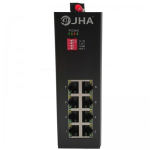 Top Quality 24 Ports Managed Poe Switch -  8 10/100TX | Unmanaged Industrial Ethernet Switch JHA-IF08 – JHA