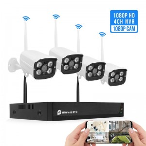 Home Security Camera System 4CH 2.0MP Wireless Wifi NVR Kit