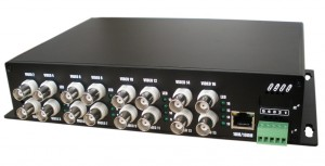 16ch video Tx + 1ch RS 485 data Rx Optical Video Transmitter and Receiver JHA-D16TV1RB-20