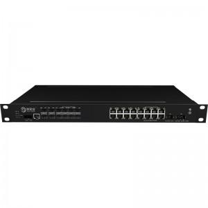 2*10G Fiber Port+16*10/100/1000Base-T, Managed Industrial Ethernet Switch JHA-MIGS1216-1U