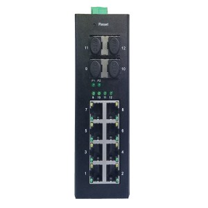 8 10/100/1000TX PoE/PoE+ and 4 1000X SFP Slot | Managed Industrial PoE Switch JHA-MIGS48P