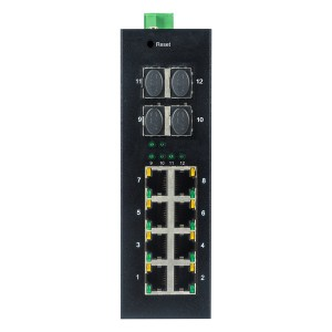 8 10/100/1000TX and 4 1000X SFP Slot | Managed Industrial Ethernet Switch JHA-MIGS48