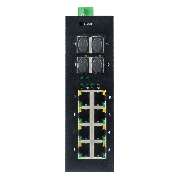 8 10/100/1000TX and 4 1000X SFP Slot | Managed Industrial Ethernet Switch JHA-MIGS48 Featured Image