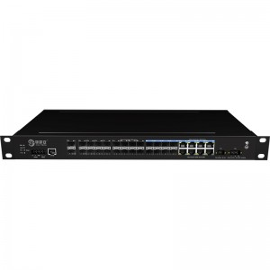 2*10G Fiber Port+16*1000Base-X+8*1000M Combo Port, Managed Industrial Ethernet Switch JHA-MIGS1600C08W2-1U