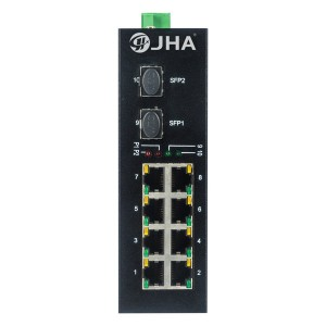 8 10/100TX and 2 1000X SFP Slot | Unmanaged Industrial Ethernet Switch JHA-IGS20F08