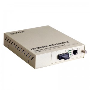 10/100/1000TX – 1000FX | Managed Fiber Media Converter JHA-MG11