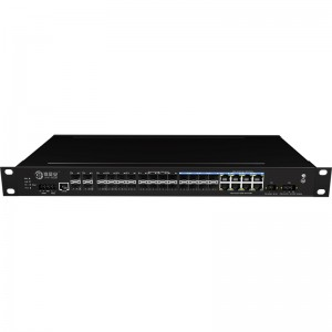4*10G Fiber Port+8*1000M Combo+16*10/100/1000Base-T, Managed Industrial Ethernet Switch JHA-MIGS1600C08W4-1U