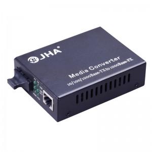 10/100/1000TX – 1000FX | Dual Fiber Media Converter  JHA-G11