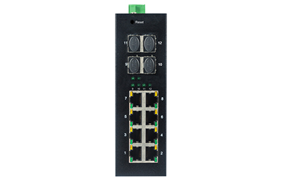 8 10/100 / 1000TX dan 4 1000X SFP Slot |  Managed Industrial Ethernet Beralih