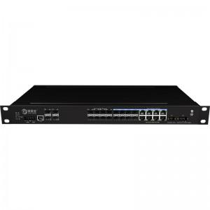 4*10G Fiber Port+16*1000Base-X+8*1000M Combo Port, Managed Industrial Ethernet Switch JHA-MIGS800C08W4-1U