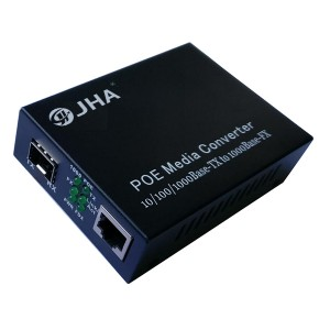 10/100/1000TX – 1000X SFP Slot | PoE Fiber Media Converter JHA-GS11P