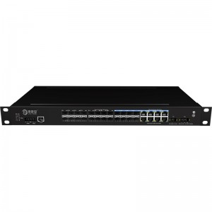 16*1000Base-X+8*1000M Combo Port Managed Industrial Ethernet Switch JHA-MIGS1600C08-1U