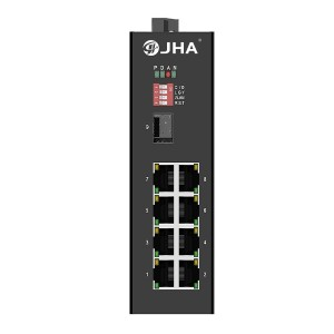 8 10/100TX PoE/PoE+ and 1 1000X SFP Slot | Unmanaged Industrial PoE Switch JHA-IGS10F08P