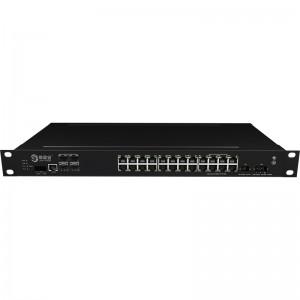 4*10G Fiber Port+24*1000Base-X, Managed Industrial Ethernet Switch JHA-MIGS24W4-1U