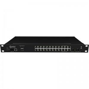 2*10G Fiber Port+24*10/100/1000Base-T, Managed Industrial Ethernet Switch JHA-MIG024W2-1U