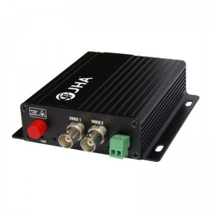 2ch video Tx + 1ch RS 485 data Rx Optical Video Transmitter and Receiver  JHA-D2TV1RB-20