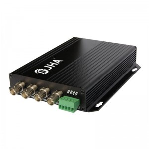4ch video Tx + 1ch RS 485 data Rx Optical Video Transmitter and Receiver JHA-D4VT1RB-20