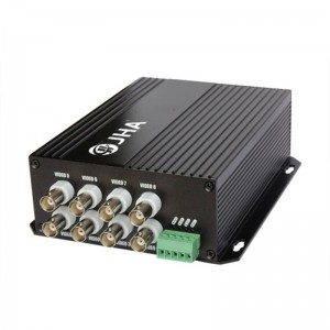 8ch video Tx + 1ch RS 485 data Rx Optical Video Transmitter and Receiver JHA-D8VT1RB-20