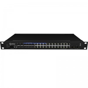 4*10G Fiber Port+16*10/100/1000Base-T+8*1000M Combo Port, Managed Industrial Ethernet Switch JHA-MIG016C08W4-1U