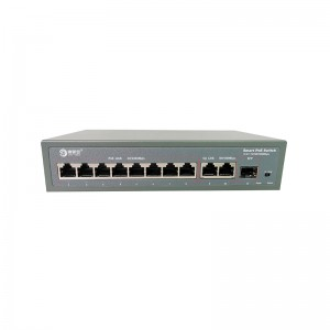 8*10/100M PoE Port+2*10/100/1000M RJ45 Port+1*10/100/1000M SFP Slot,Smart PoE Switch JHA-P31208BM