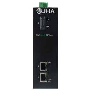 2 10/100TX PoE/PoE+ and 1 100FX | Unmanaged Industrial PoE Switch JHA-IF12P