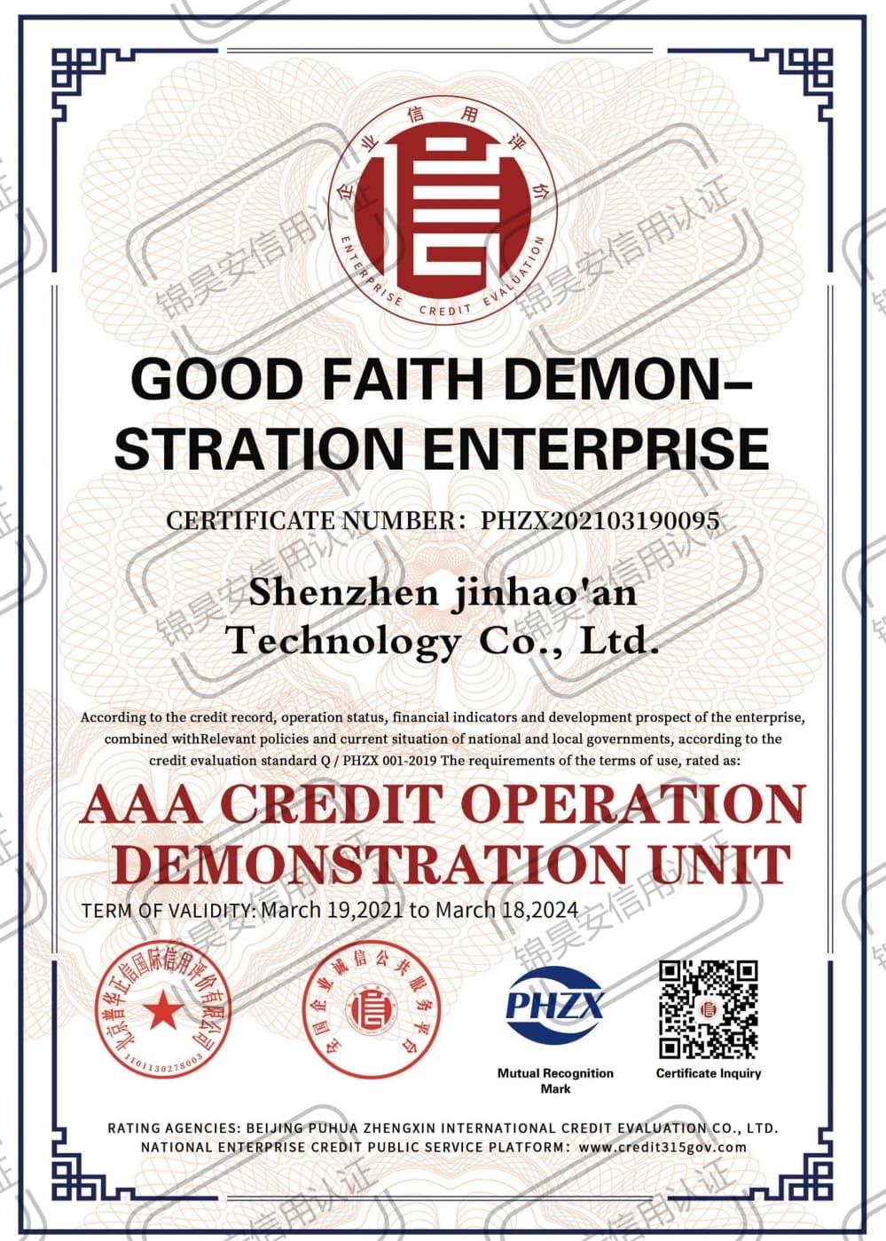 Good Faith Demonstration Enterprise
