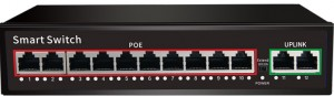 10-port 10/100Base-T(X) IEEE802.3 af/at PoE +2-port 100Base-T(X) Uplink Port, Smart PoE Switch JHA-P102010CBMH