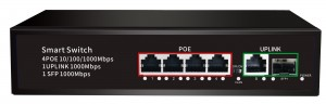 4*100/1000mbps POE port+1*100/1000mbps UP Link port+1*100/1000mbps SFP Port,with VLAN JHA-P41114BMH