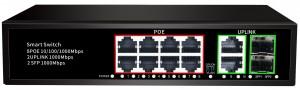 8*100/1000mbps POE Port+2*100/1000mbps UP Link Port+1*100/1000mbps SFP Port, Smart PoE Switch JHA-P42208BMH