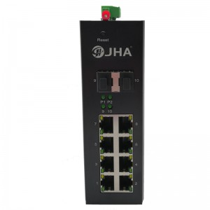 8 10/100/1000TX PoE/PoE+ and 2 1000X SFP Slot   Managed Industrial PoE Switch JHA-MIGS28P