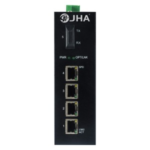 4 10/100TX and 1 100FX | Unmanaged Industrial Ethernet Switch JHA-IF14