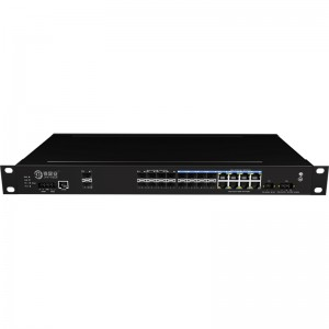 2*10G Fiber Port+8*1000Base-X+8*1000M Combo Port, Managed Industrial Ethernet Switch JHA-MIGS800C08W2-1U
