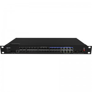 20*1000Base-X+8*10/100/1000M Base-T, Managed Industrial Ethernet Switch JHA-MIGS2008-1U