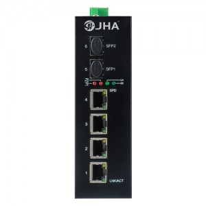 4 10/100/1000TX PoE/PoE+ and 2 1000X SFP Slot | Managed Industrial PoE Switch JHA-MIGS24P