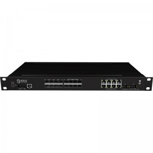 16*1000Base-X+8*10/100/1000Base-T, Managed Industrial Ethernet Switch JHA-MIGS1608-1U