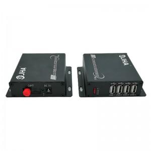 4 Port USB2.0 to Fiber Optic Converter