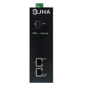 2 10/100/1000TX and 1 1000X SFP Slot | Industrial Media Converter JHA-IGS12