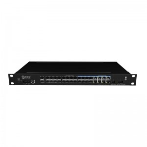 2*10G Fiber Port+16*1000Base-X+8*10/100/1000Base-T, Managed Industrial Ethernet Switch JHA-MIGS1608W2-1U